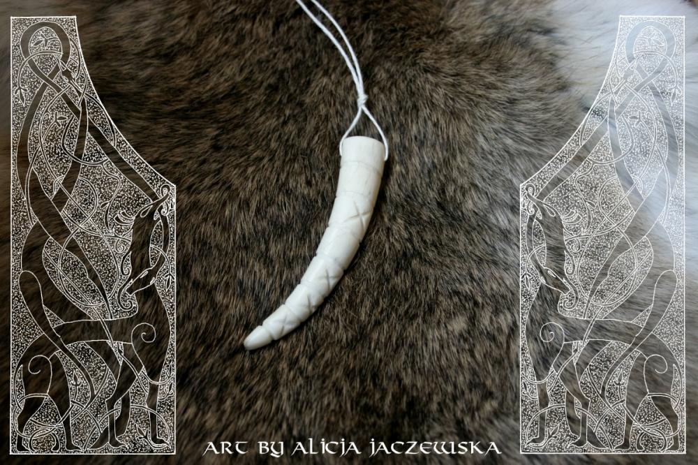 viking age carved antler tip 2