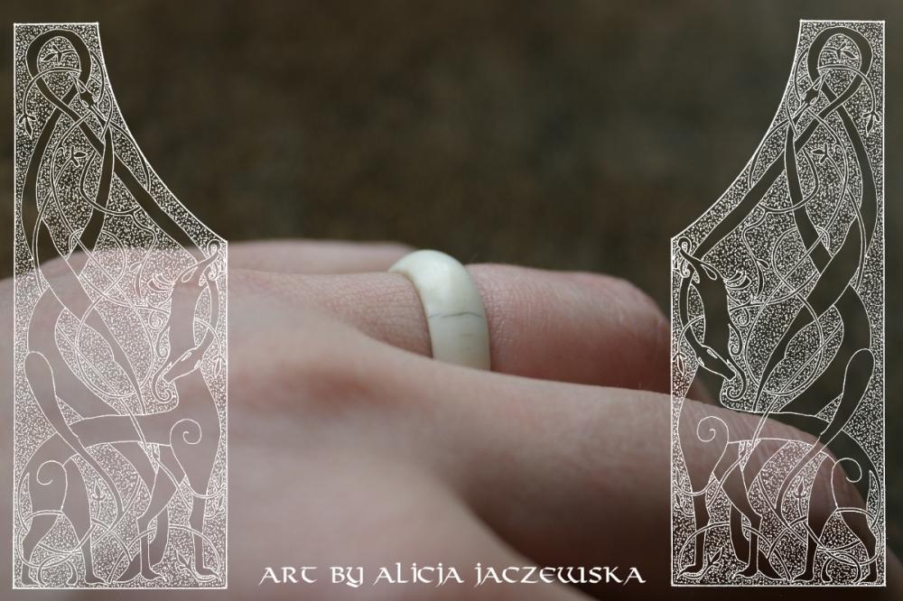 viking deer antler ring bone jorvik